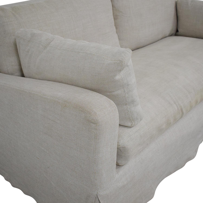 buy Restoration Hardware Belgian Slope Arm Slipcover Sofa Restoration Hardware Classic Sofas