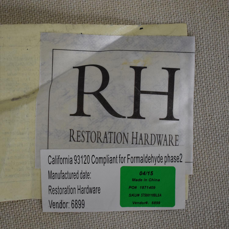 Restoration Hardware Restoration Hardware Belgian Slope Arm Slipcover Sofa nj