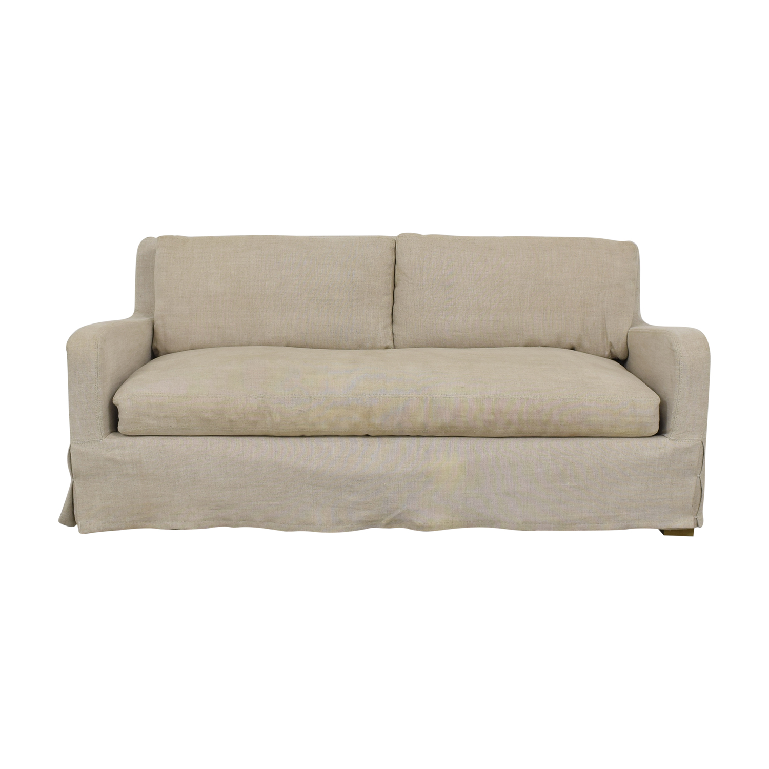 Restoration Hardware Restoration Hardware Belgian Slope Arm Slipcover Sofa discount