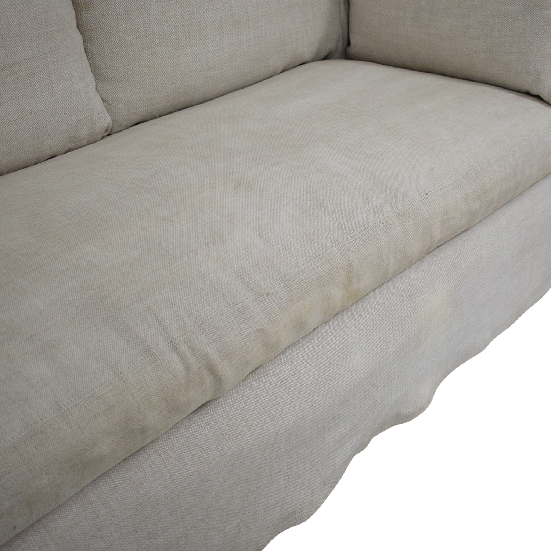 88 Off Restoration Hardware Restoration Hardware Belgian Slope Arm Slipcover Sofa Sofas