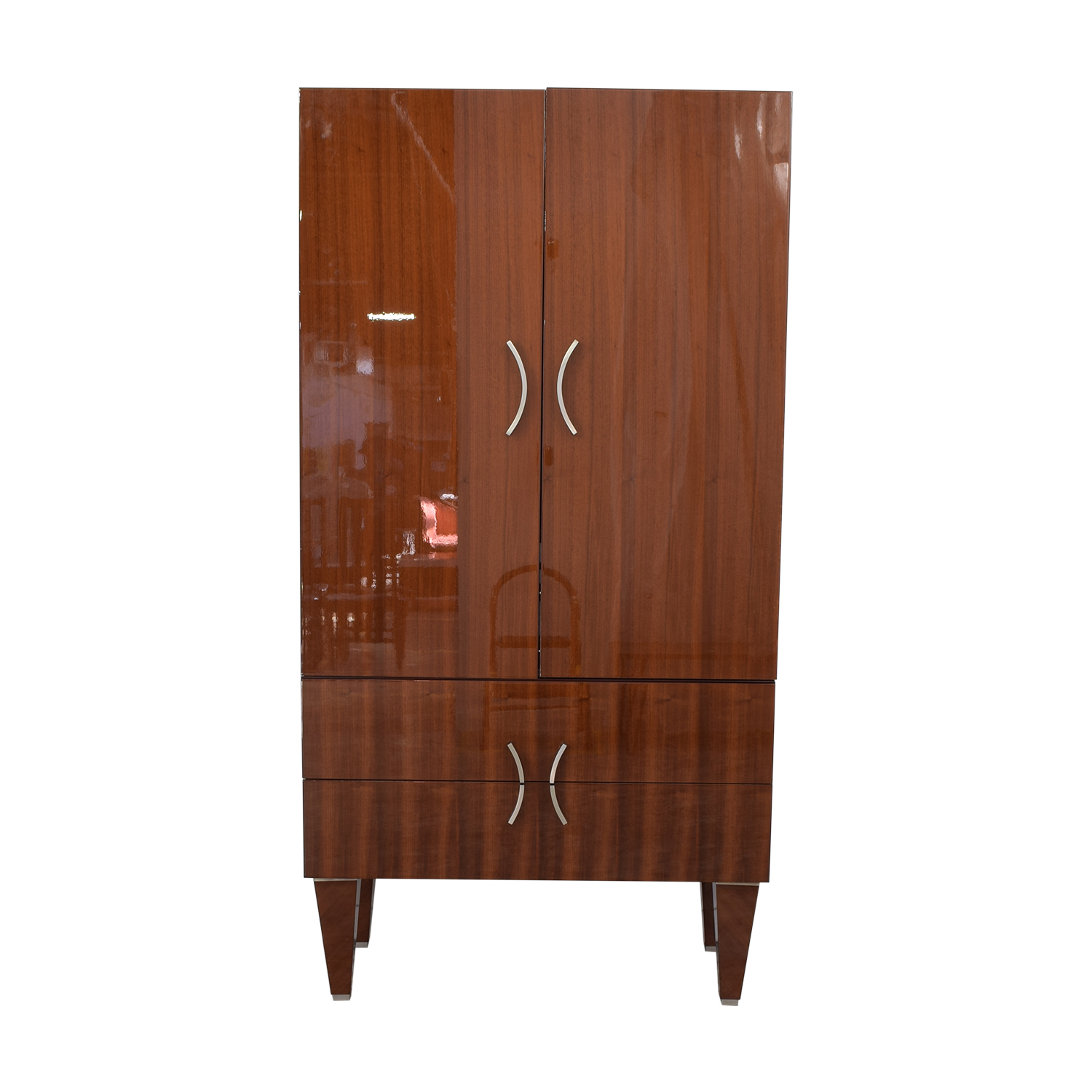 Excelsior Designs Excelsior Designs Dark Brown Wood Armoire for sale