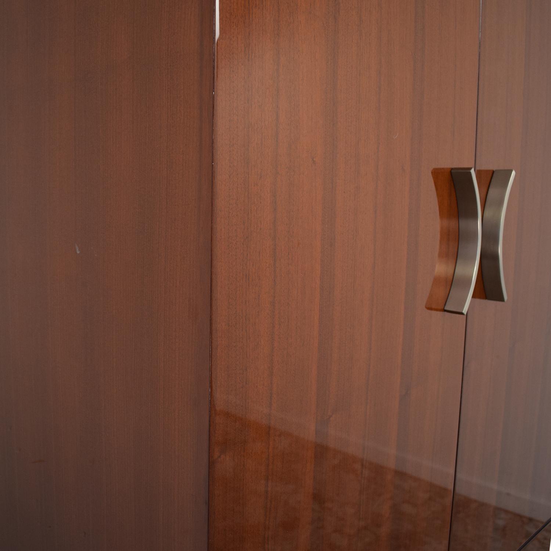 Excelsior Designs Excelsior Designs Dark Brown Wood Armoire brown
