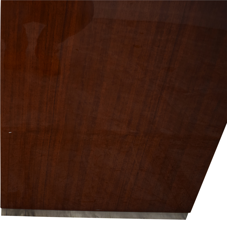 Dark Brown Nightstand with Transparent Shelf