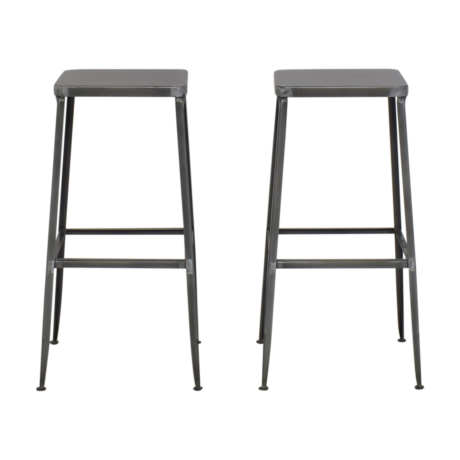 CB2 CB2 Flint Bar Stools grey
