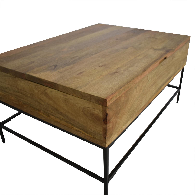 47 Off West Elm West Elm Industrial Storage Pop Up Coffee Table Tables