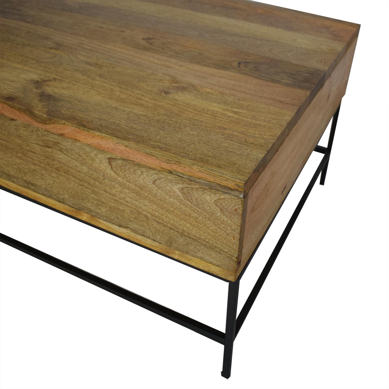 buy West Elm Industrial Storage Pop Up Coffee Table West Elm Coffee Tables