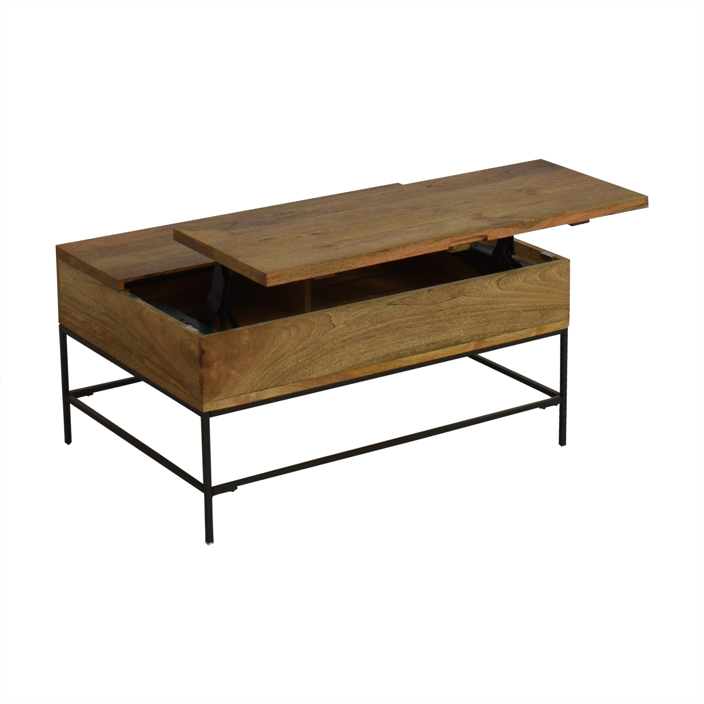 shop West Elm West Elm Industrial Storage Pop Up Coffee Table online
