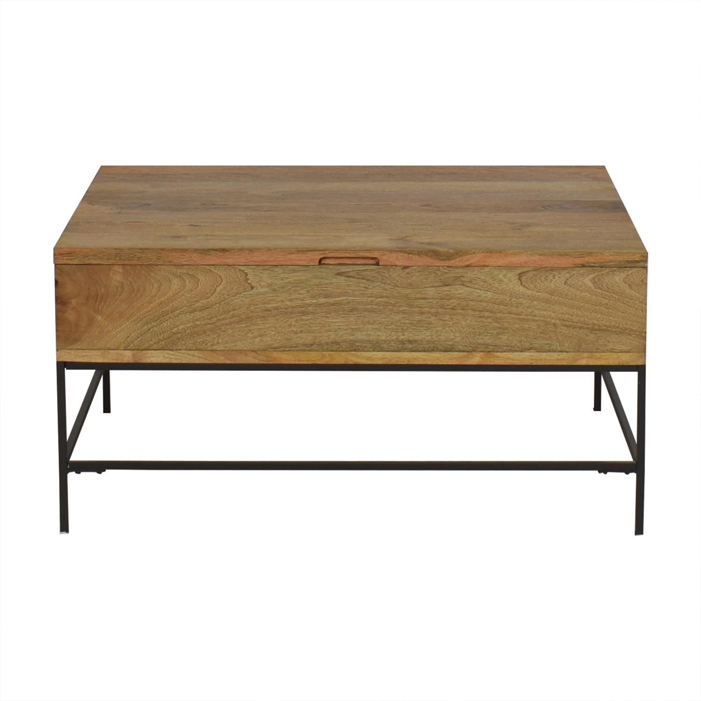 buy West Elm West Elm Industrial Storage Pop Up Coffee Table online
