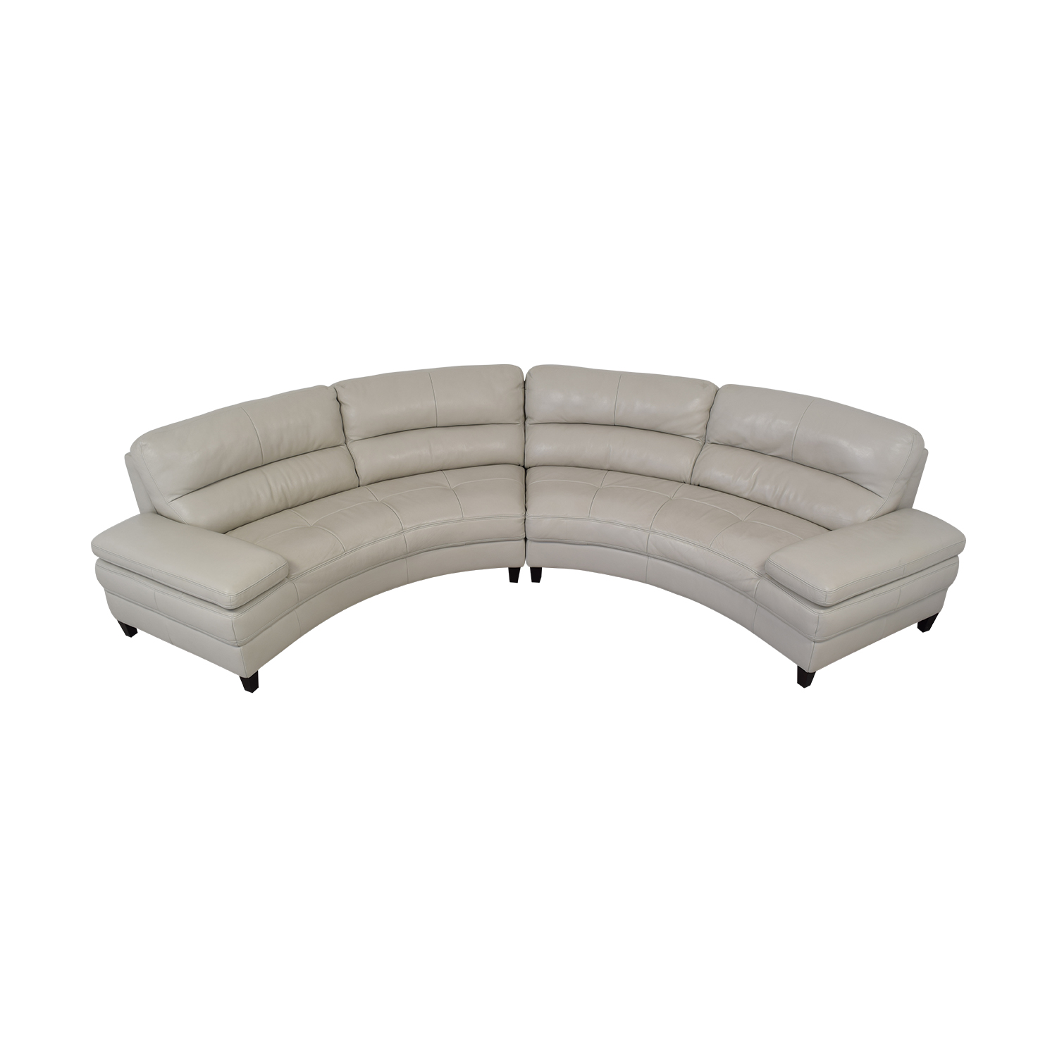 Macy's Leather Curved Sofa / Sofas