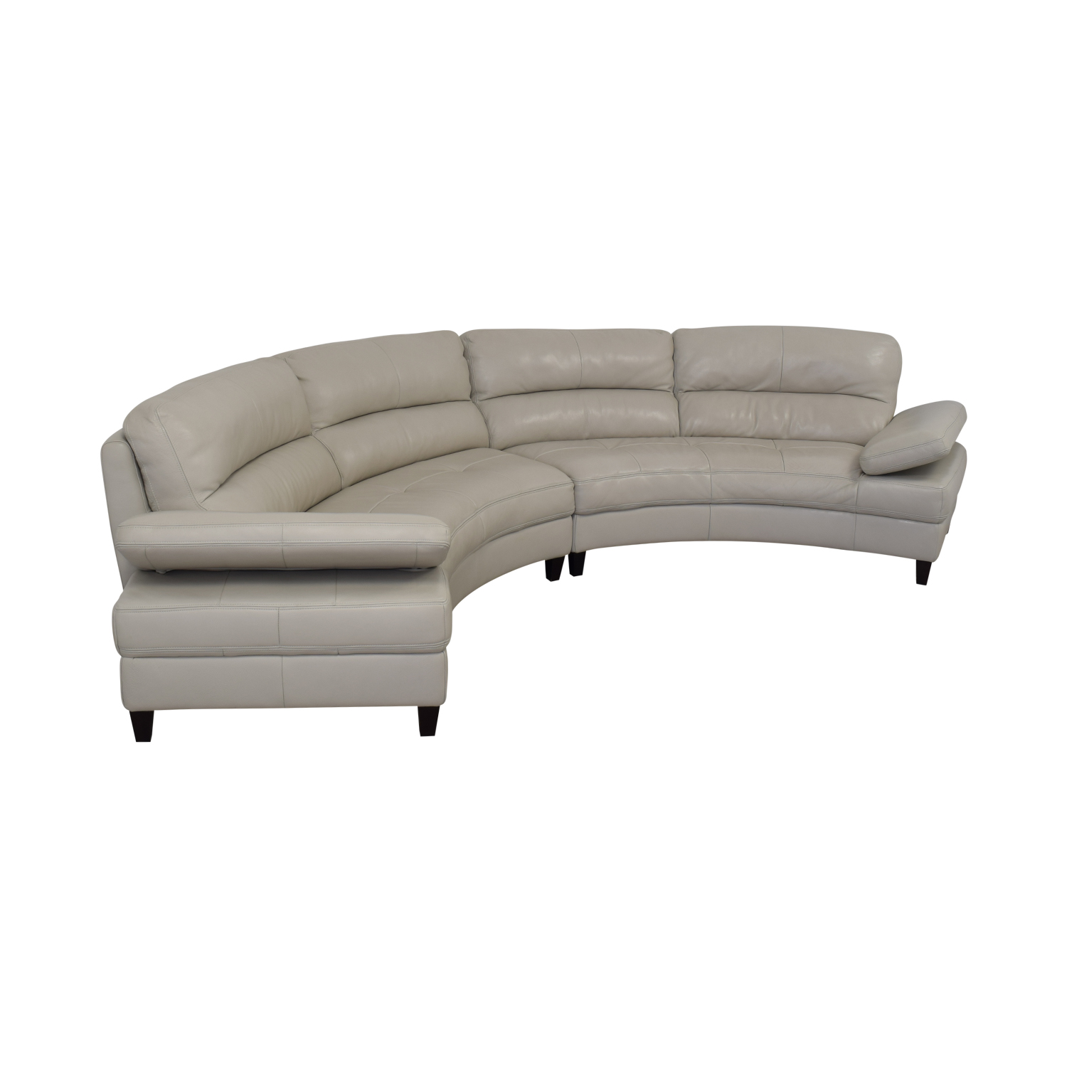 buy Macy's Leather Curved Sofa Macy's Sectionals