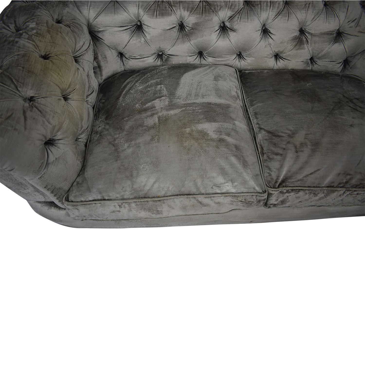 88 Off John Lewis John Lewis Two Cushion Velvet Chesterfield