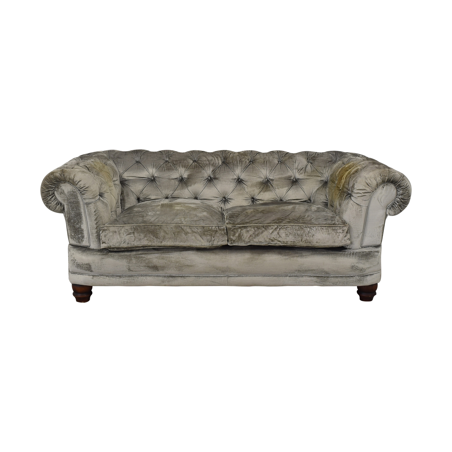 buy John Lewis Two Cushion Velvet Chesterfield Sofa John Lewis Sofas