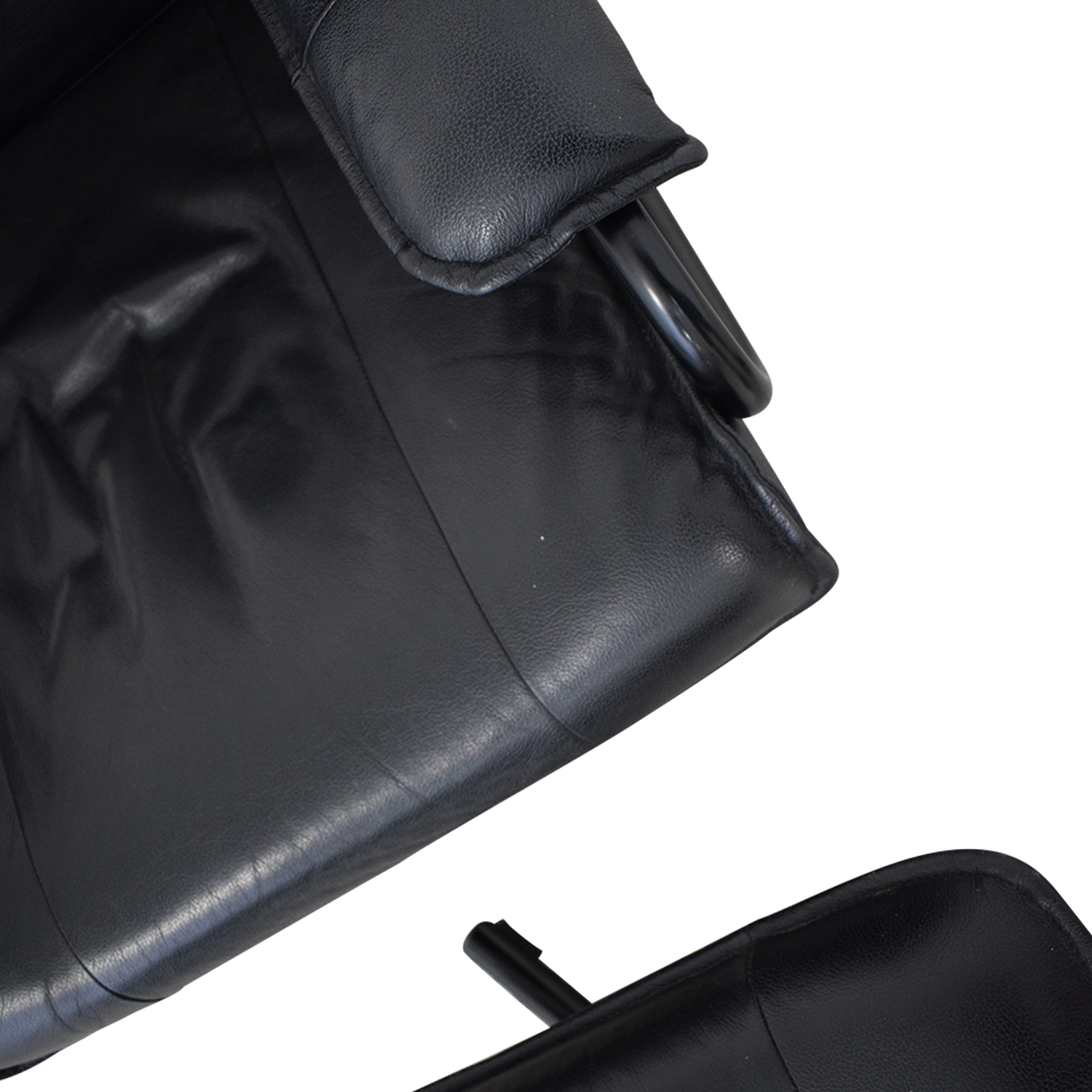 KEBE Kebe Danish Leather Lounge Chair and Footstool pa