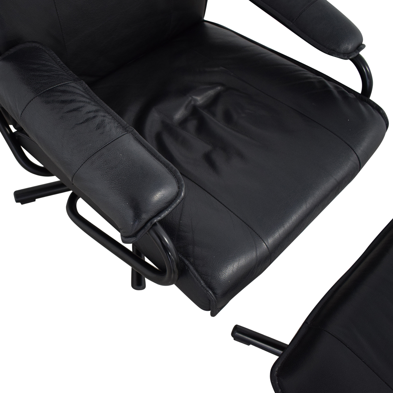 shop KEBE Kebe Danish Leather Lounge Chair and Footstool online