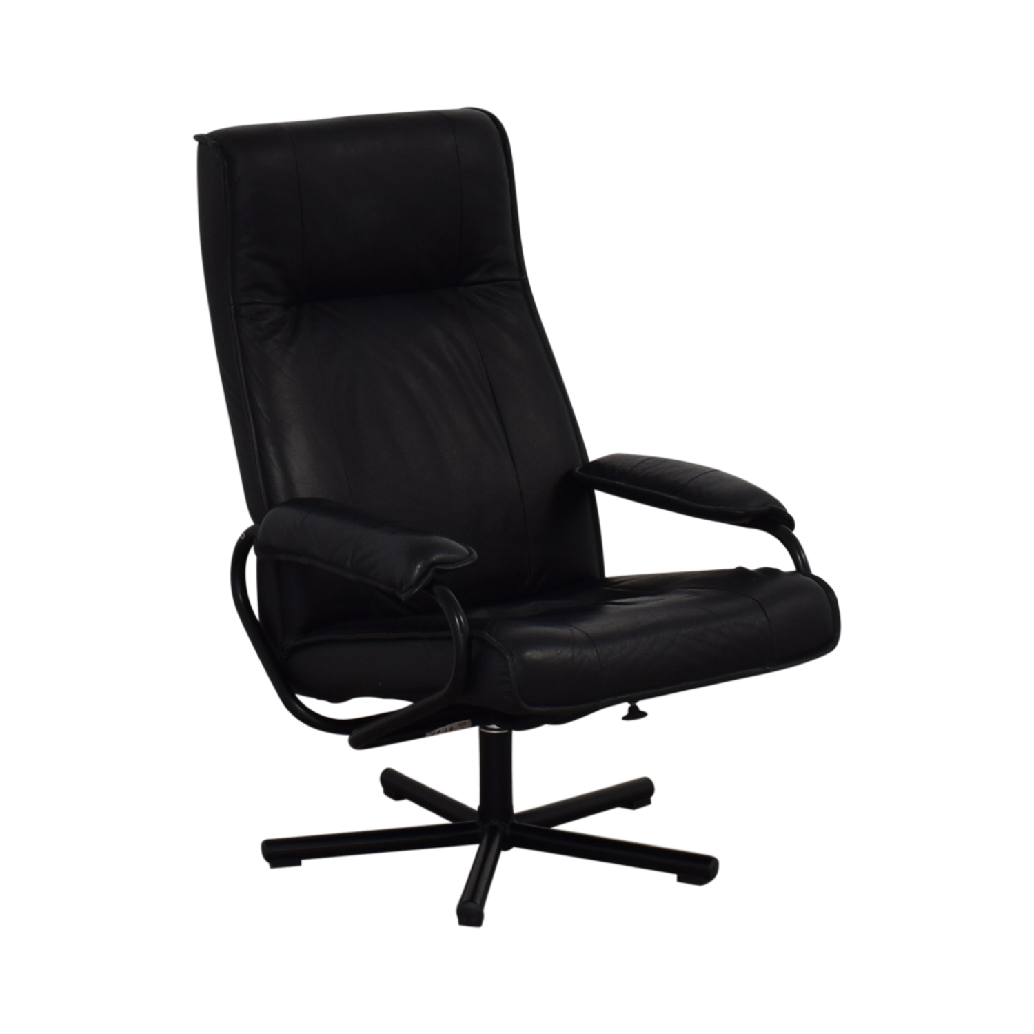 KEBE Kebe Danish Leather Lounge Chair and Footstool nj