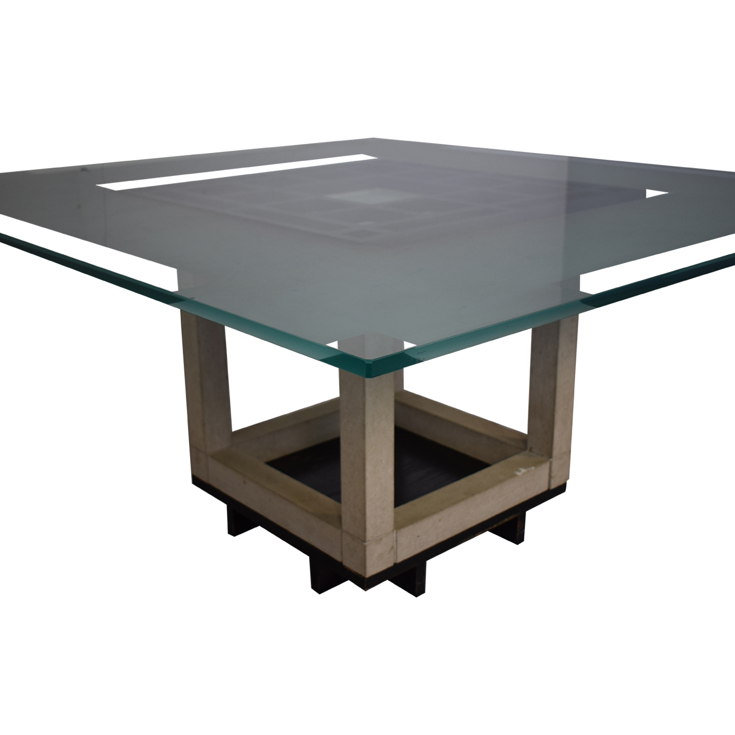 Glass Top Dining Table clear