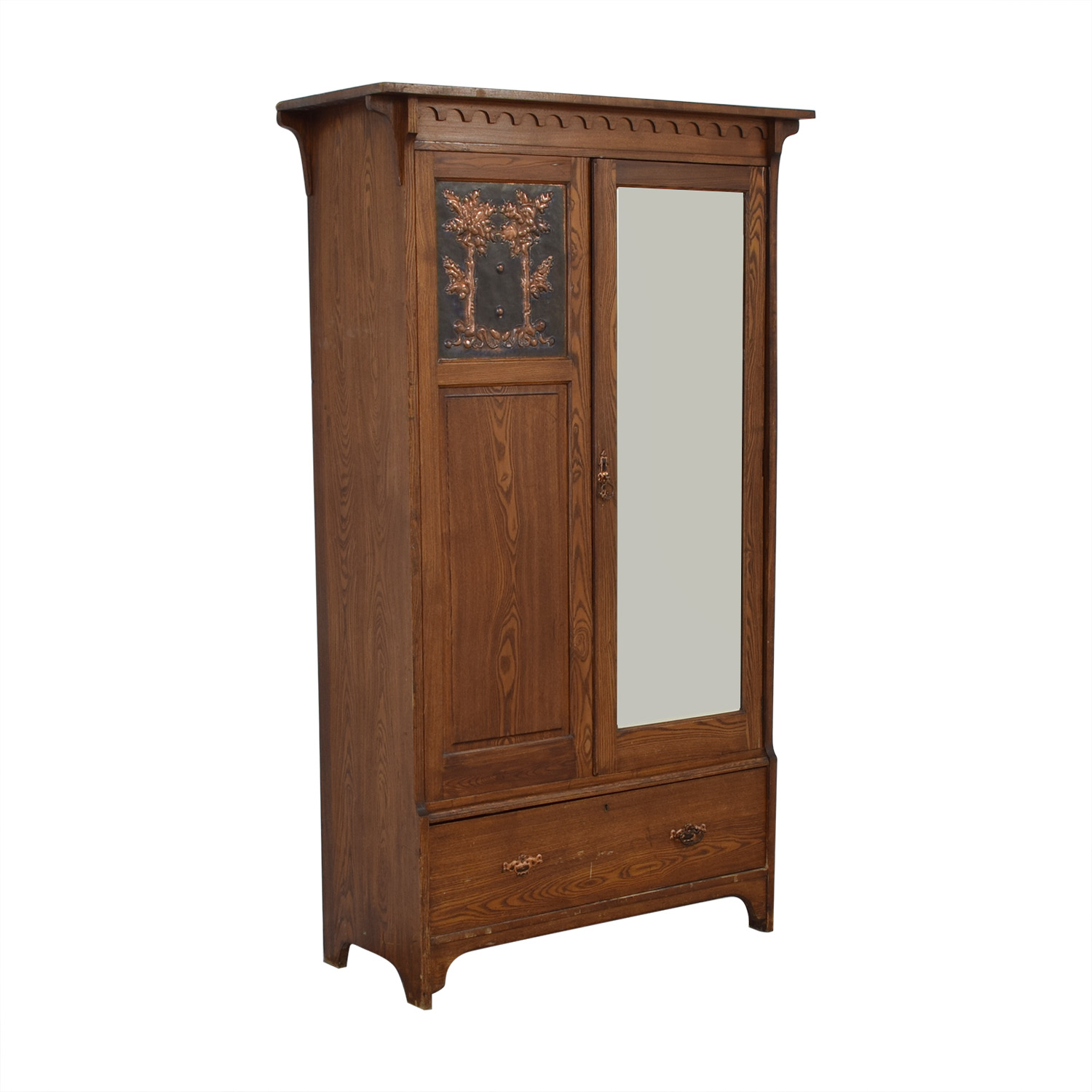Vintage Arts and Crafts Armoire Wardrobes & Armoires