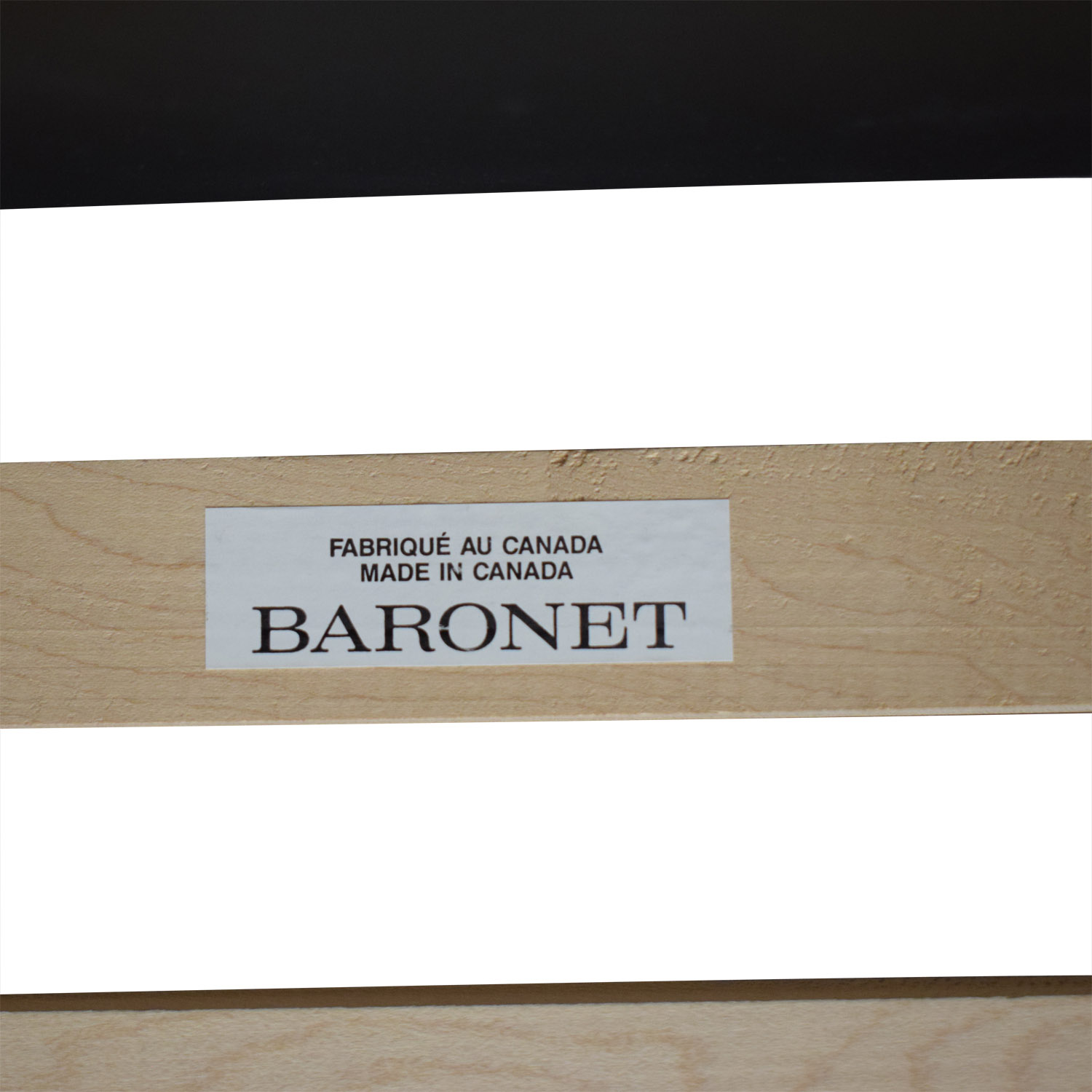 Baronet Baronet Wood King Bed Frame used