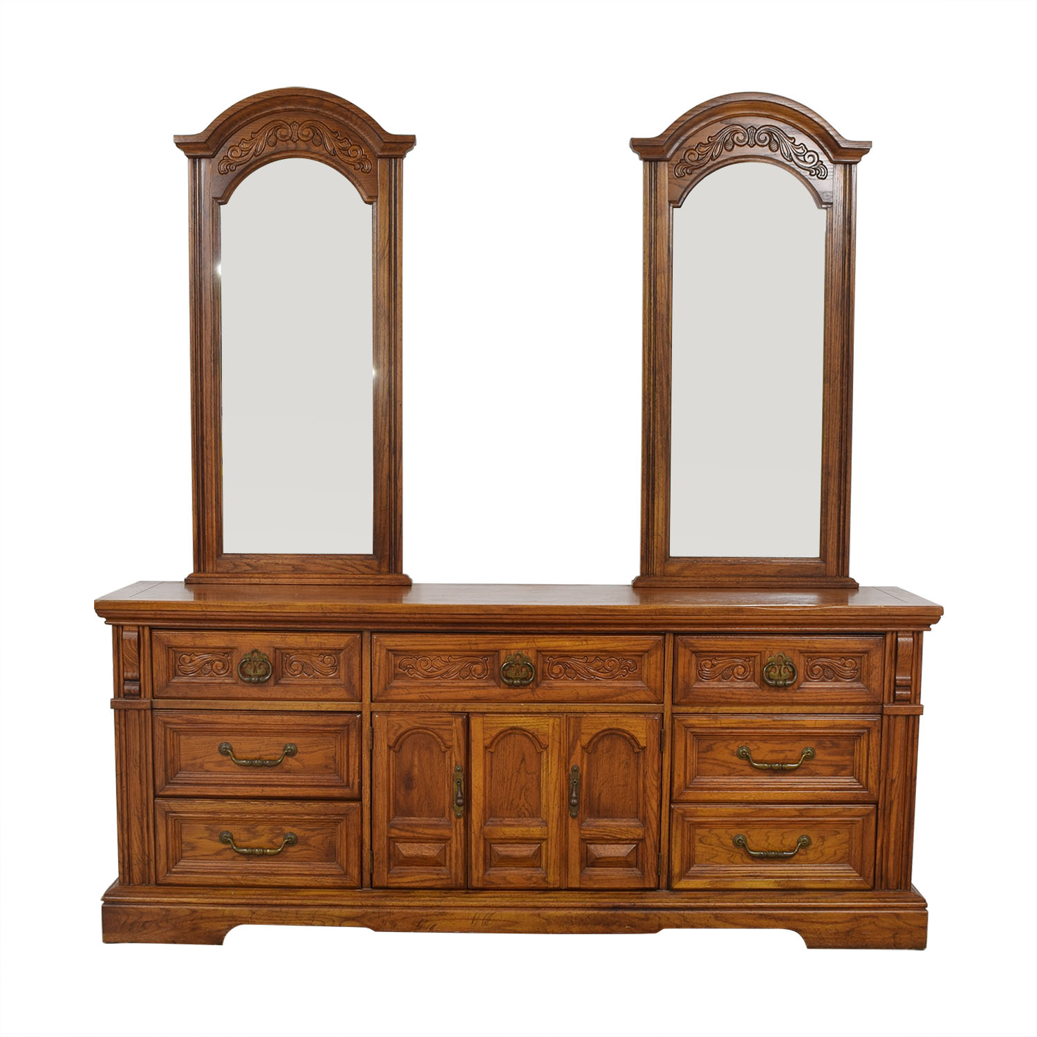 shop Burlington House Furniture Dual Mirror Dresser Burlington House Furniture Storage
