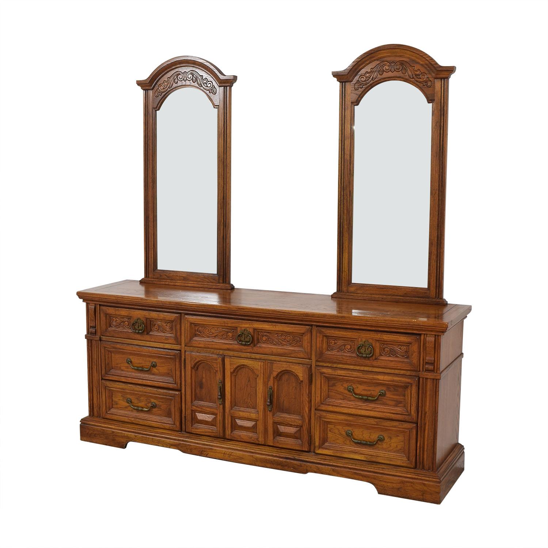 buy Burlington House Furniture Dual Mirror Dresser Burlington House Furniture Storage