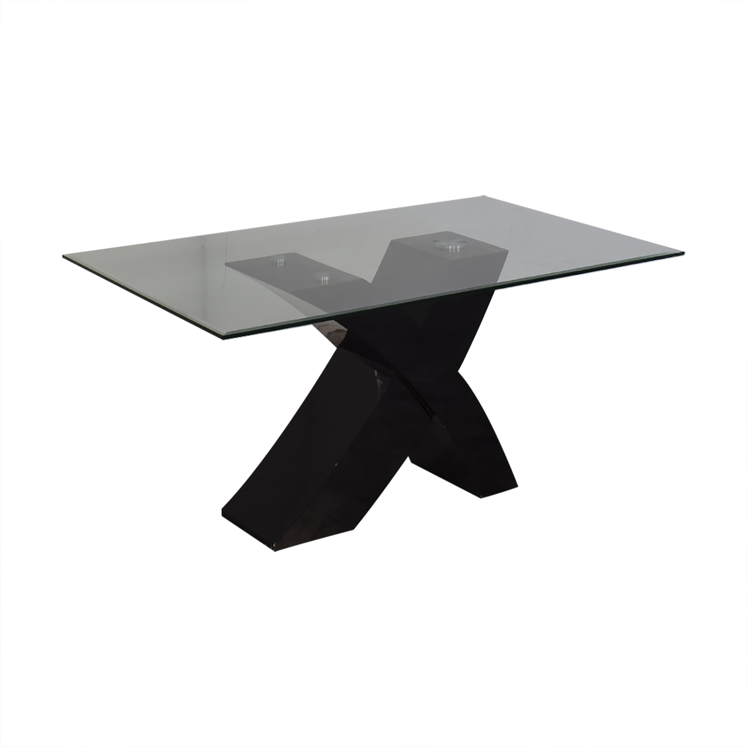 Glass Top Dining Room Table second hand