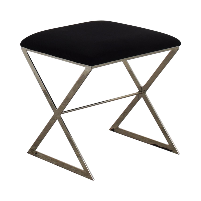 shop Worlds Away Chrome X Stool Worlds Away Chairs