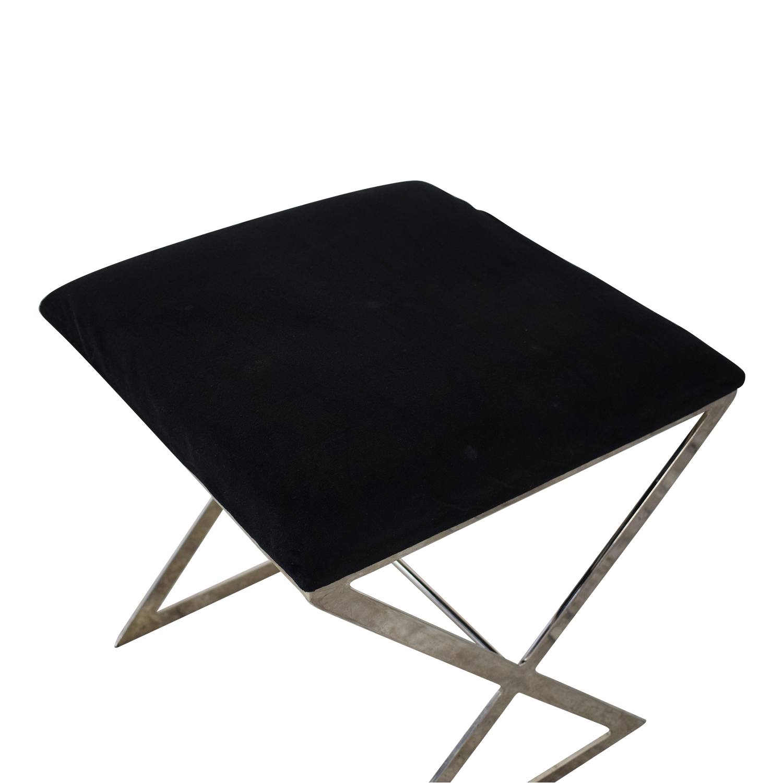 buy Worlds Away Chrome X Stool Worlds Away Chairs