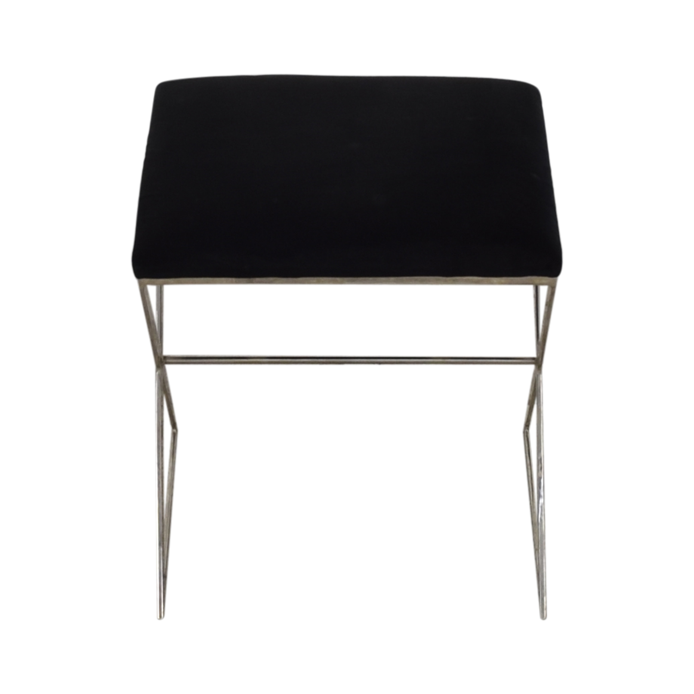 Worlds Away Chrome X Stool / Chairs