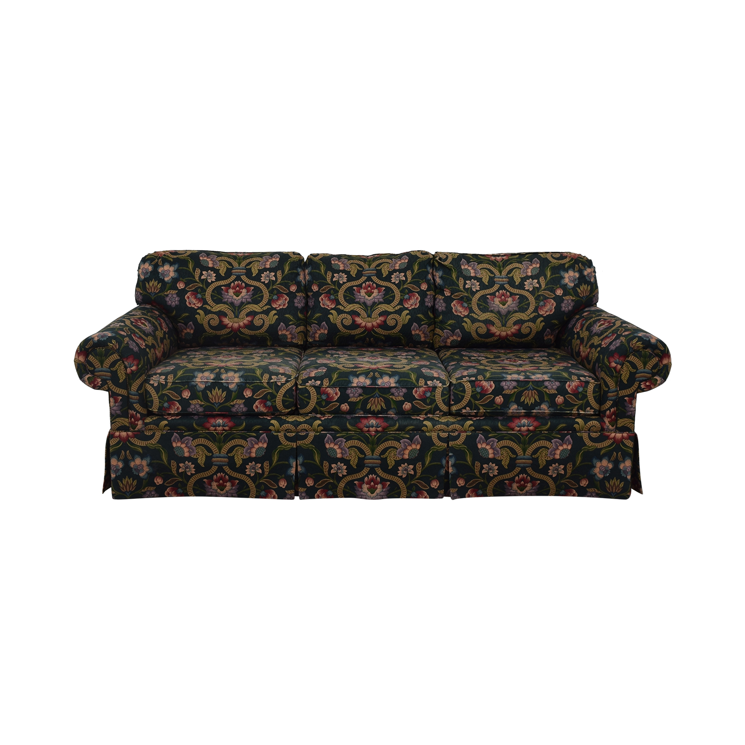 Vanguard Furniture Vanguard Furniture Floral Print Rolled Arm Sofa used