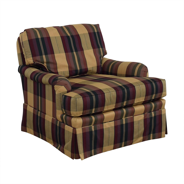 Vanguard Furniture Vanguard Furniture Plaid Fabiric Sofa and Matching Ottoman price