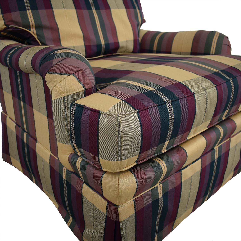 Vanguard Furniture Plaid Fabiric Sofa and Matching Ottoman / Chairs