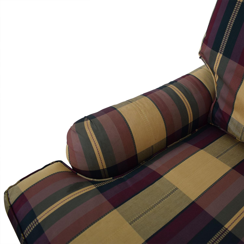 shop Vanguard Furniture Plaid Fabiric Sofa and Matching Ottoman Vanguard Furniture Chairs