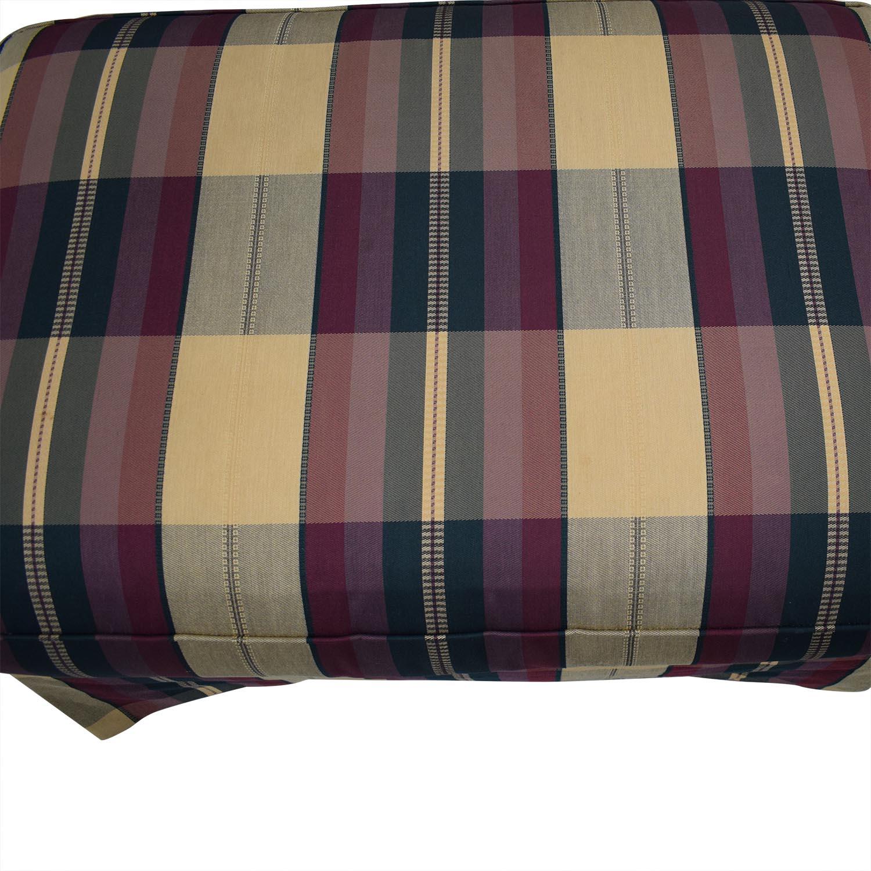 Vanguard Furniture Vanguard Furniture Plaid Fabiric Sofa and Matching Ottoman Accent Chairs