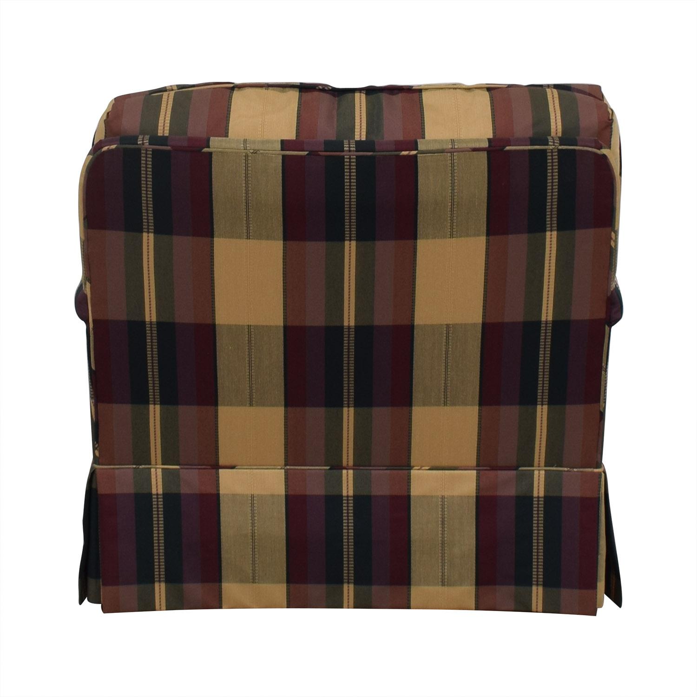 Vanguard Furniture Plaid Fabiric Sofa and Matching Ottoman / Accent Chairs