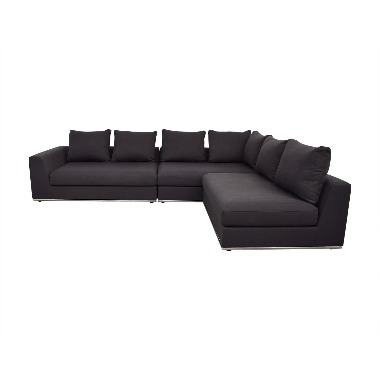 buy Modani Giovani Three Piece Sectional Sofa Modani