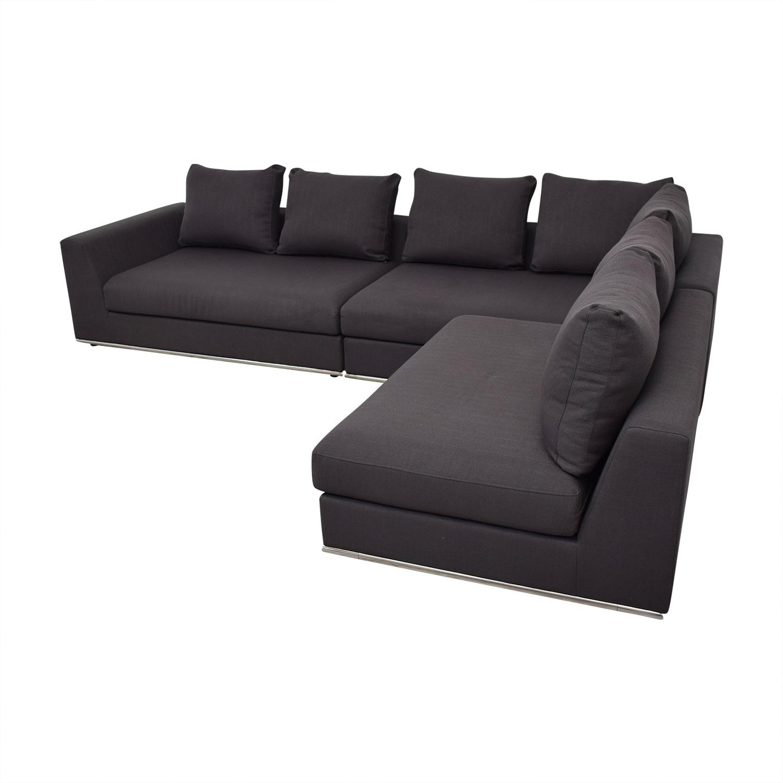 Modani Modani Giovani Three Piece Sectional Sofa Sectionals