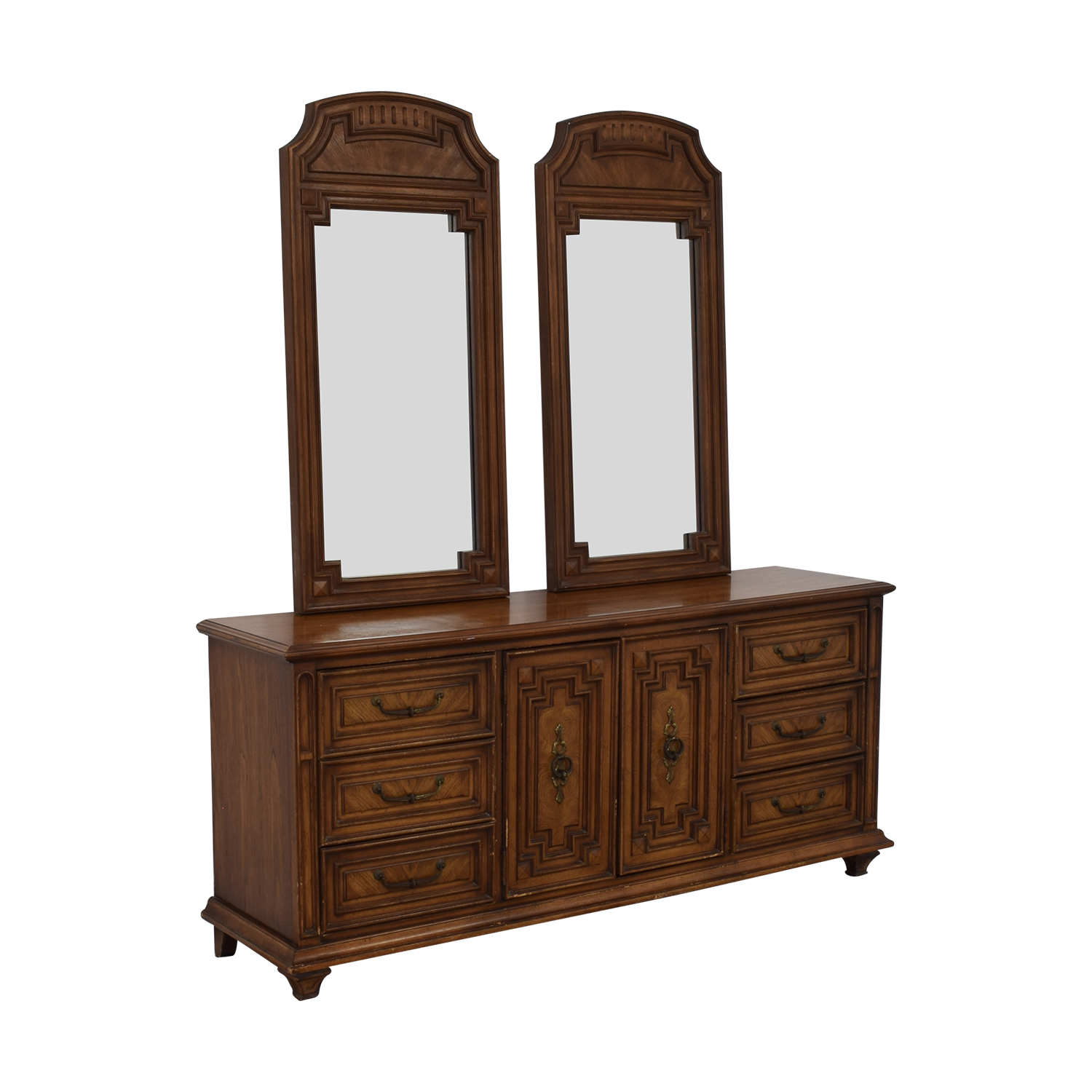 Vintage Dresser with Two Mirrors used