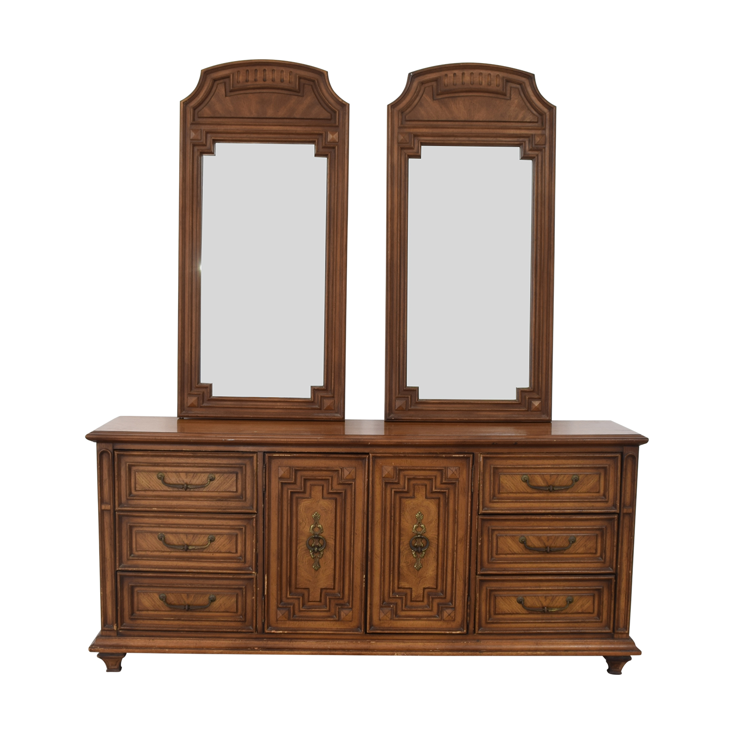 Vintage Dresser with Two Mirrors second hand