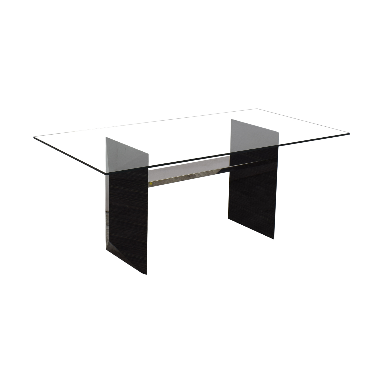 Rossetto Rossetto Minimalist Dining Table clear and black