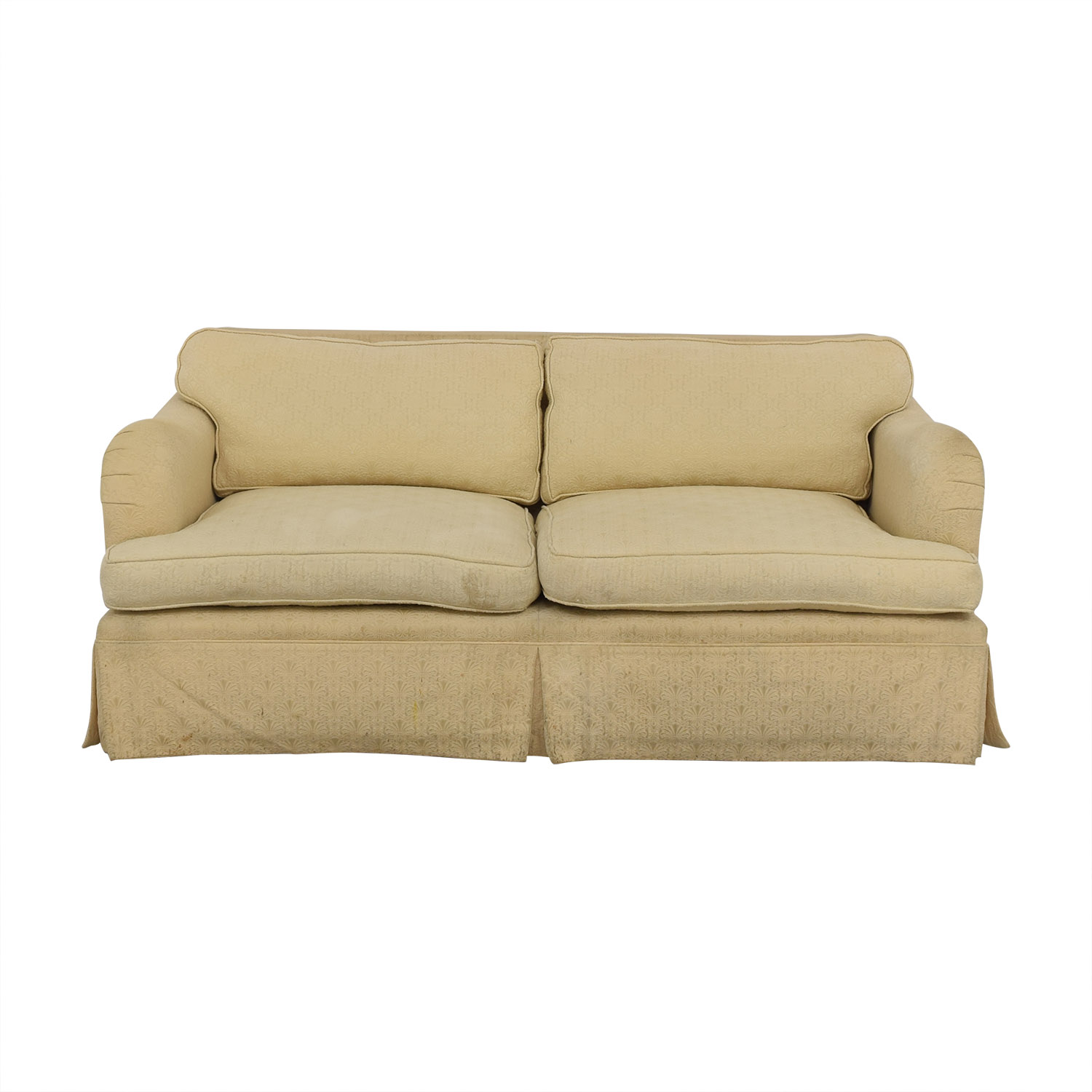 Classic Two Cushion Fabric Sofa discount