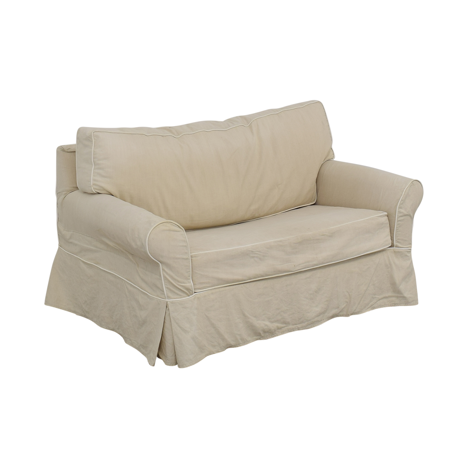 Crate & Barrel Crate & Barrel Rolled Arm Loveseat Twin Sleeper price