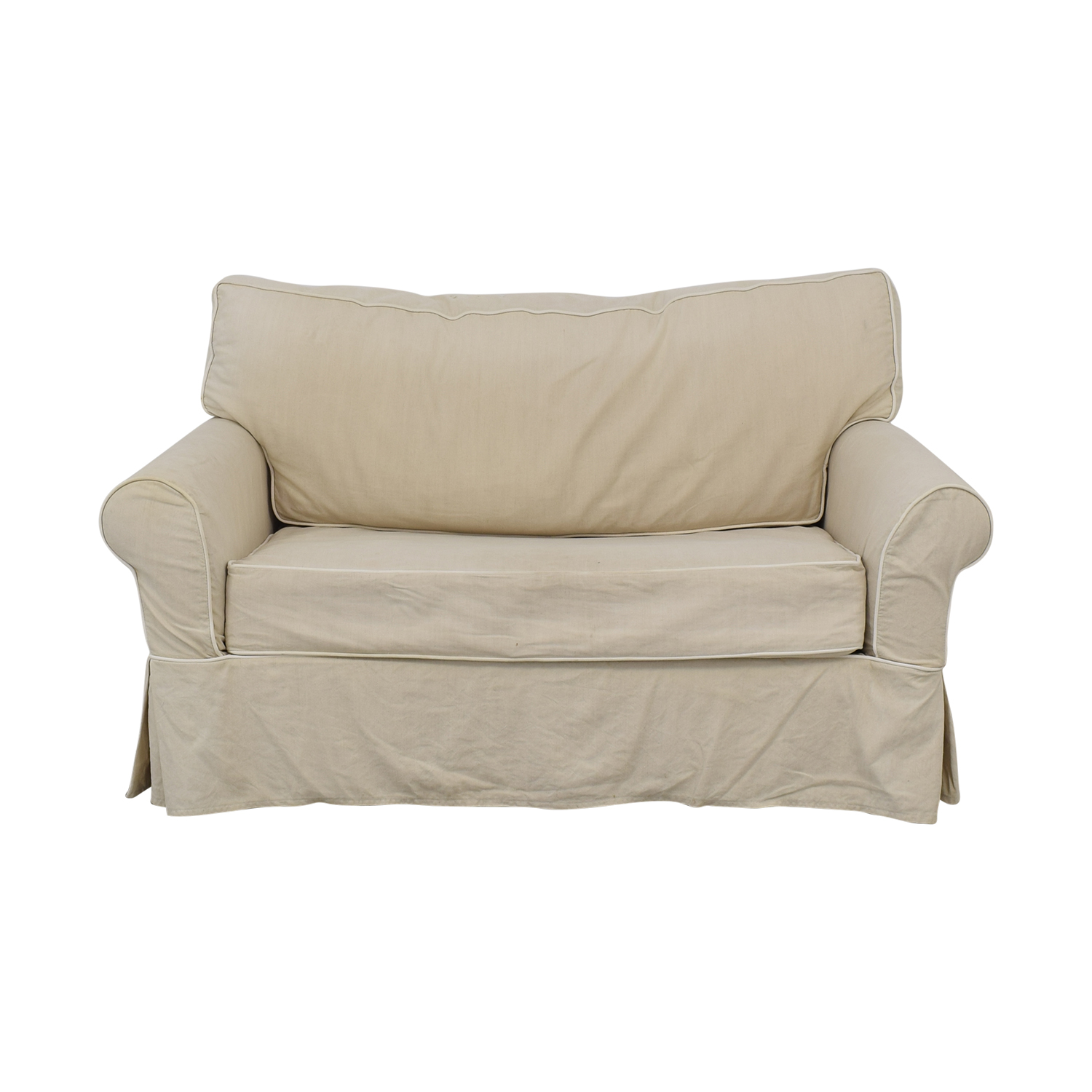 Crate & Barrel Crate & Barrel Rolled Arm Loveseat Twin Sleeper discount