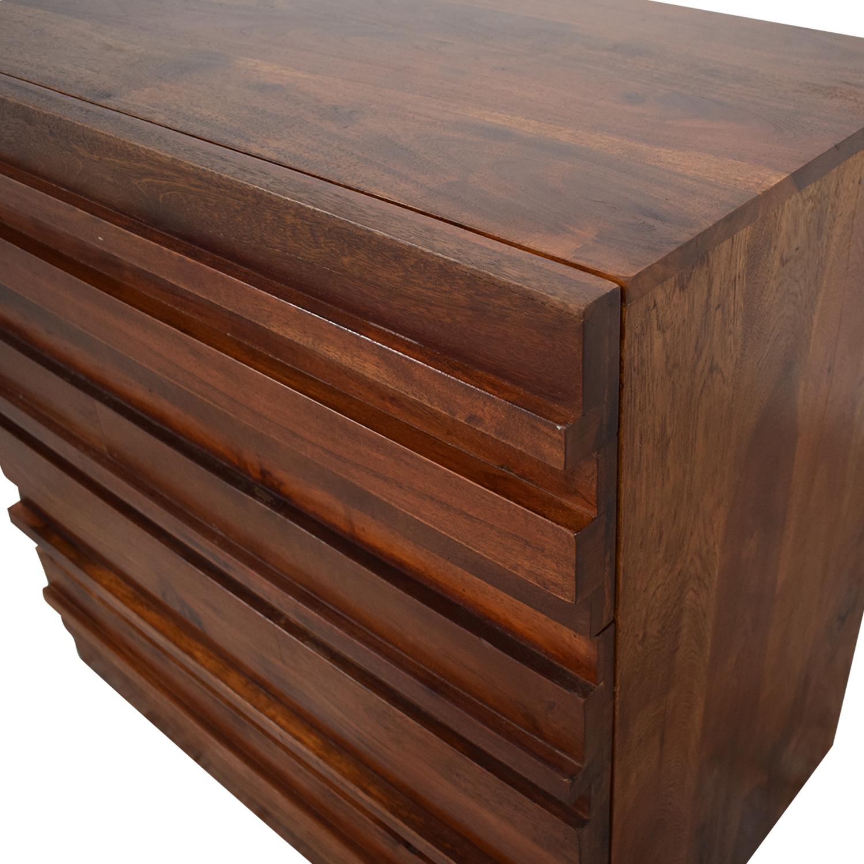 West Elm Stria Three Drawer Dresser / Storage