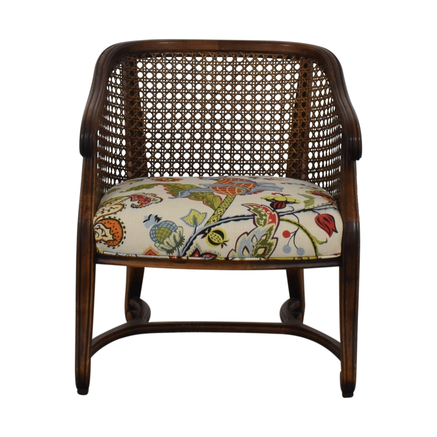 Heirloom Fruitwood Caned Armchair multi