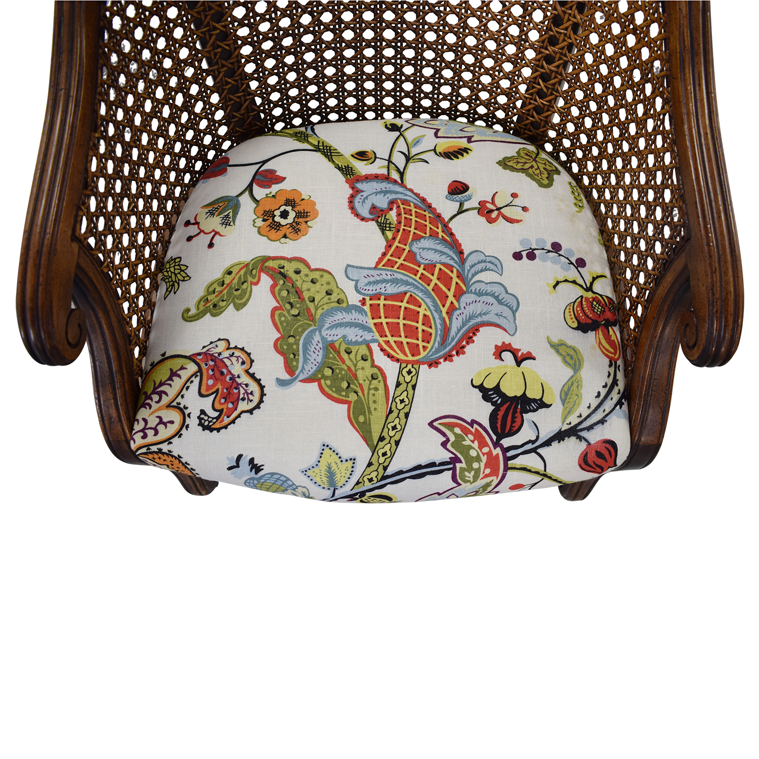 Heirloom Fruitwood Caned Armchair price