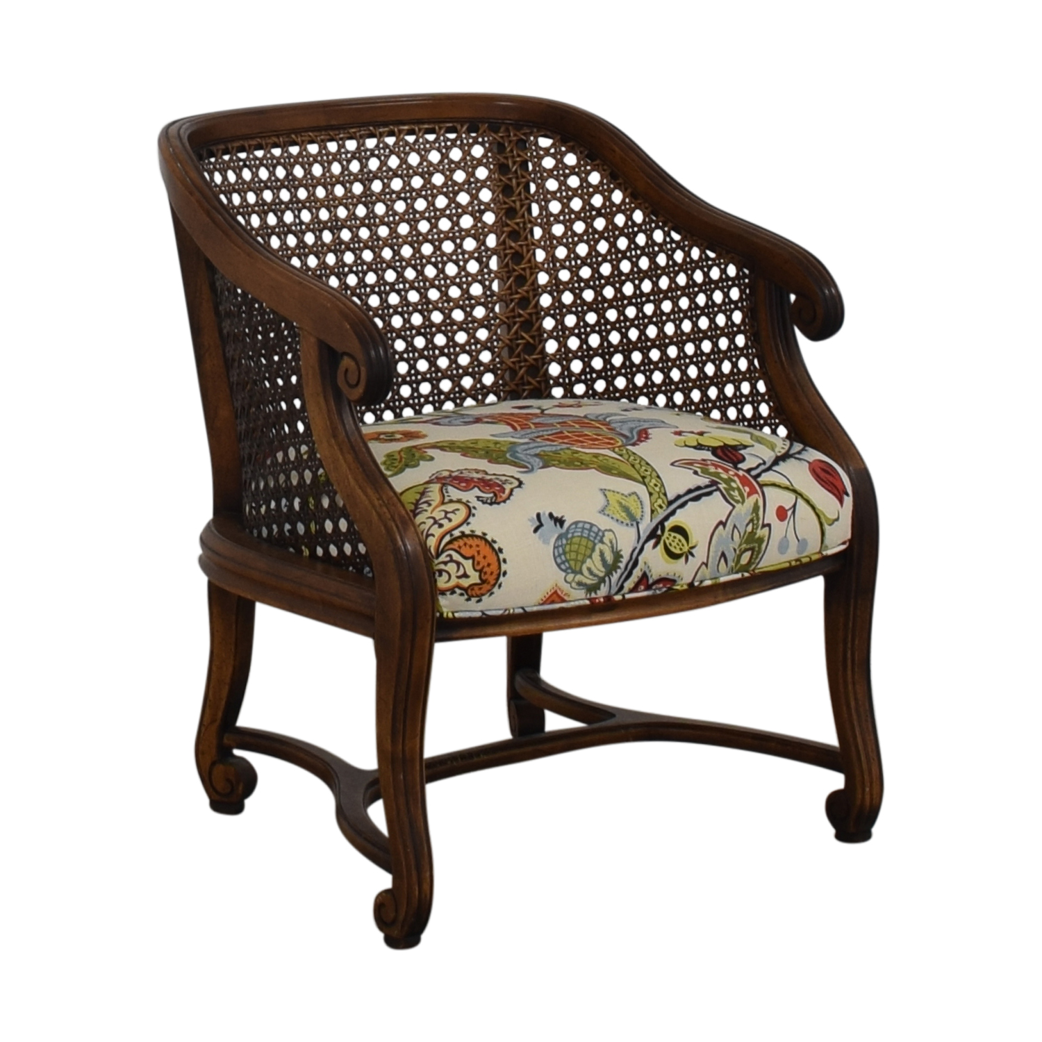 shop Heirloom Fruitwood Caned Armchair  Accent Chairs