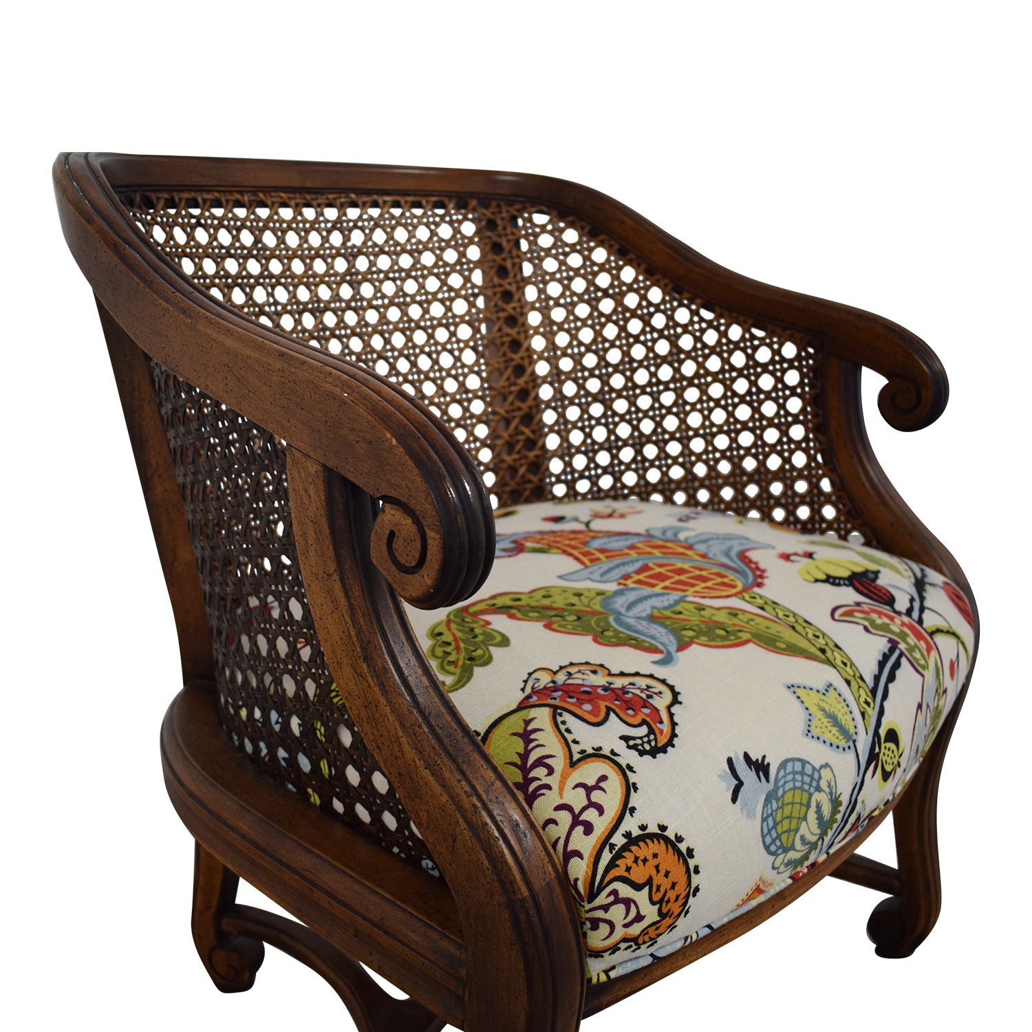 shop Heirloom Fruitwood Caned Armchair