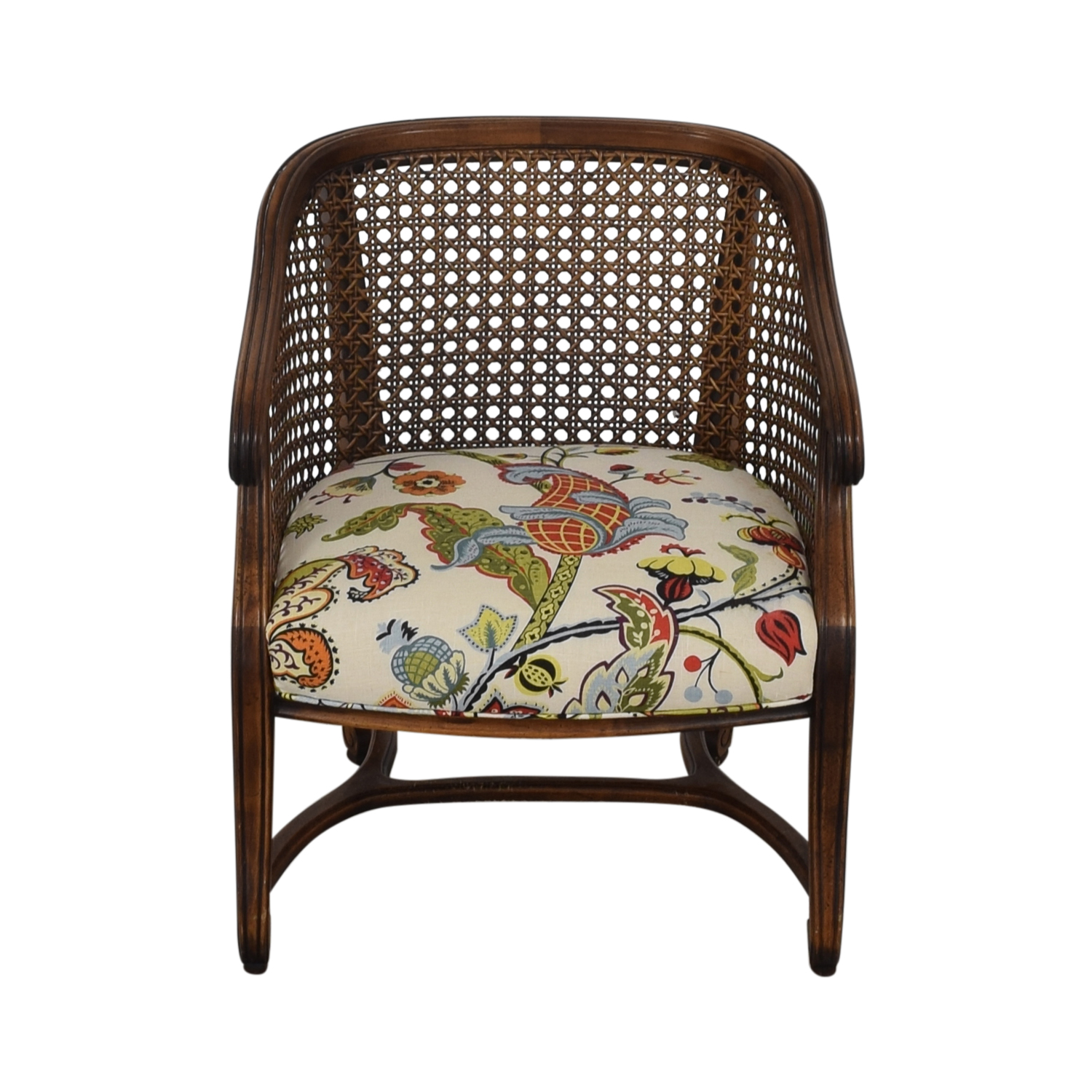 Heirloom Fruitwood Caned Armchair second hand