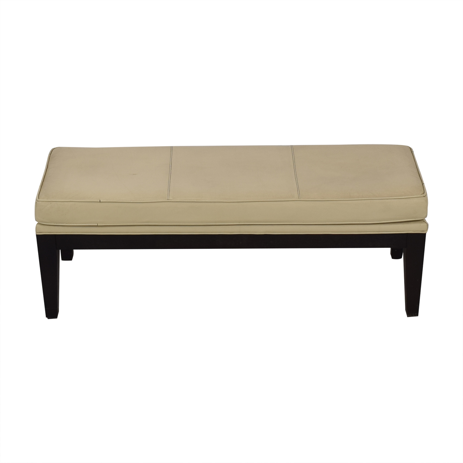 Neiman Marcus Neiman Marcus Upholstered Bench beige & dark brown