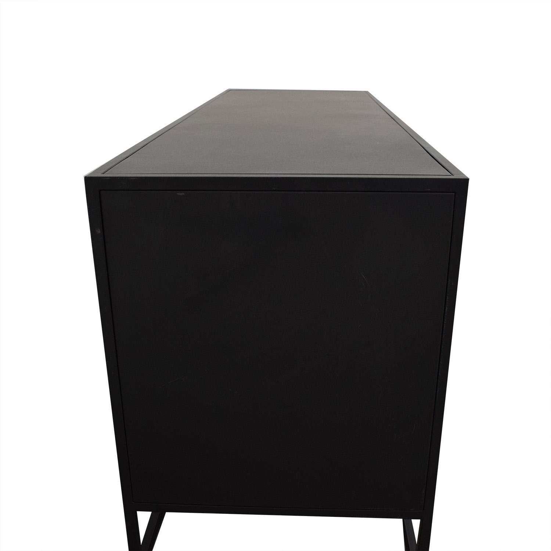 Crate & Barrel Crate & Barrel Casement Large Sideboard black